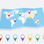 world map with geo position pins eps10 vector file stock photo © cienpies