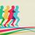 esecuzione · maratona · colorato · persone · icona · simbolo - foto d'archivio © cienpies