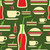 grunge fast food icons set pattern stock photo © cienpies