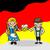 ドイツ · 少女 · フラグ · にログイン · 実例 · オクトーバーフェスト - ストックフォト © cienpies