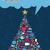 christmas · social · media · dymka · płatki · śniegu · sieci - zdjęcia stock © cienpies