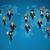 global · mapa · negócio · trabalho · em · equipe · mapa · do · mundo - foto stock © cienpies