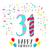 joyeux · anniversaire · année · carte · de · vœux · affiche · couleur · une - photo stock © cienpies