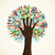 isolated diversity tree hands stock photo © cienpies