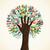 isolé · diversité · arbre · mains · illustration · vecteur - photo stock © cienpies