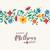 retro · virágminta · vibráló · színek · tavasz · virágmintás - stock fotó © cienpies