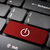 red power off keyboard key technology background stock photo © cienpies