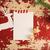 christmas vintage paper cut deer top view template stock photo © cienpies