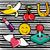 Cute · Cartoon · фрукты · наклейку · набор · яблоко - Сток-фото © cienpies