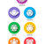 chakra icon color set flat style isolated stock photo © cienpies