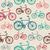 vintage bike elements seamless pattern stock photo © cienpies