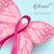 kelebek · meme · kanseri · farkında · olma · şerit · pembe · kelebekler - stok fotoğraf © cienpies
