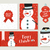 merry christmas snowman card and label set stock photo © cienpies