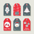 christmas set of labels and tags for holiday gifts stock photo © cienpies