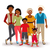 Happy African American family illustration stock photo © cienpies