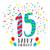 15 · 15 · 年 · 歳の誕生日 · グリーティングカード · 番号 - ストックフォト © cienpies