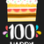 joyeux · anniversaire · 100 · année · carte · nombre - photo stock © cienpies