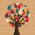 abstract diversity tree hands stock photo © cienpies
