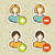 social media user people icons set stock photo © cienpies