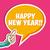 happy new year sticker bubble stock photo © cienpies