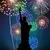 feux · d'artifice · sautant · réveil · minuit · nouvelle · année · heureux - photo stock © cienpies