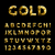 gold low poly font typeface elegant numbers abc stock photo © cienpies