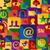lámpa · szimbólum · közösségi · média · hálózat · ikonok · ikon · szett - stock fotó © cienpies