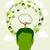 verde · cerebro · árbol · vector · pensar · ecológico - foto stock © cienpies