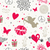 valentines day vintage seamless pattern stock photo © cienpies