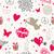 Valentine`s day vintage seamless pattern stock photo © cienpies