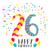 feliz · cumpleaños · 24 · año · tarjeta · número - foto stock © cienpies
