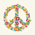 isolated peace symbol made with flowers composition eps10 file stock photo © cienpies