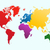 world map colorful continents atlas eps10 vector file stock photo © cienpies