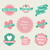 幸せな母の日 · ヴィンテージ · ラベル · セット · かわいい · デザイン - ストックフォト © cienpies