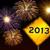 feliz · ano · novo · fogos · de · artifício · estrada · 2013 · ano · amarelo - foto stock © cienpies