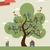 Tree cute city stock photo © cienpies