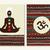 yoga concept set boho background and chakra icons stock photo © cienpies