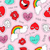 hand drawn valentines patch icons seamless pattern stock photo © cienpies