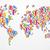 diverstiy people concept world map stock photo © cienpies