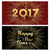 new year 2017 gold firework greeting card set stock photo © cienpies
