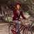 trendy fashion girl riding bike on fall season stock photo © cienpies