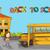vektör · okul · otobüsü · çocuklar · kız · yol · okul - stok fotoğraf © cienpies