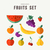 fruits set food icons for nutrition and health stock photo © cienpies