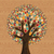 isolado · diversidade · árvore · mãos · ilustração · cartão - foto stock © cienpies