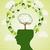 menselijke · hoofd · groene · iconen · silhouet - stockfoto © cienpies