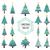 ingesteld · christmas · bomen · eenvoudige · ontwerp - stockfoto © cienpies
