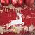 christmas new year card background vintage deer stock photo © cienpies