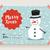 かわいい · 雪だるま · クリスマス · グリーティングカード · デザイン · 背景 - ストックフォト © cienpies