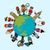cultural · diversidade · crianças · de · mãos · dadas · em · torno · de · colorido - foto stock © cienpies