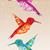 résumé · géométrique · rouge · pourpre · tuiles · coloré - photo stock © cienpies